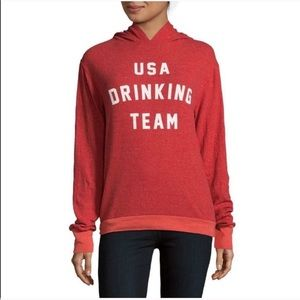 Wildfox NWOT USA Drinking Team Sweatshirt